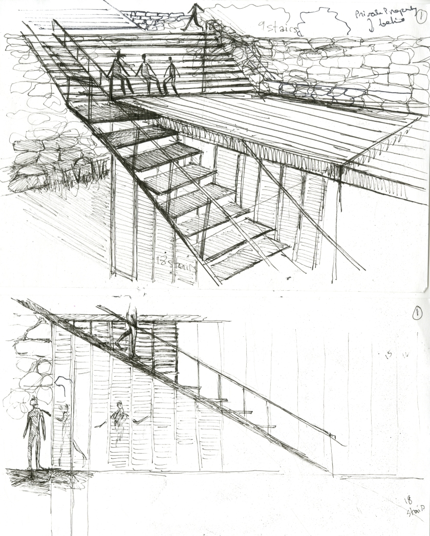 stair and building